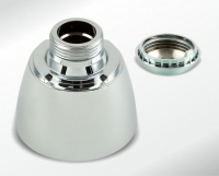 Bath fittings, cap with unscrewed internal thread