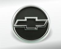 Chrome-plated Chevrolet emblem
