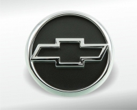 Chrome-plated Chevrolet emblem