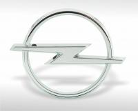 Chrome-plated Opel emblem