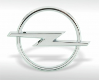 Chrome-plated Opel emblem