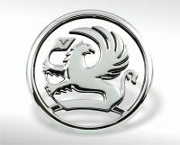 Chrome-plated Vauxhall emblem