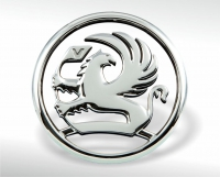 Chrome-plated Vauxhall emblem