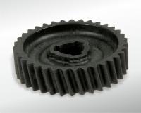 Helical-cut gear