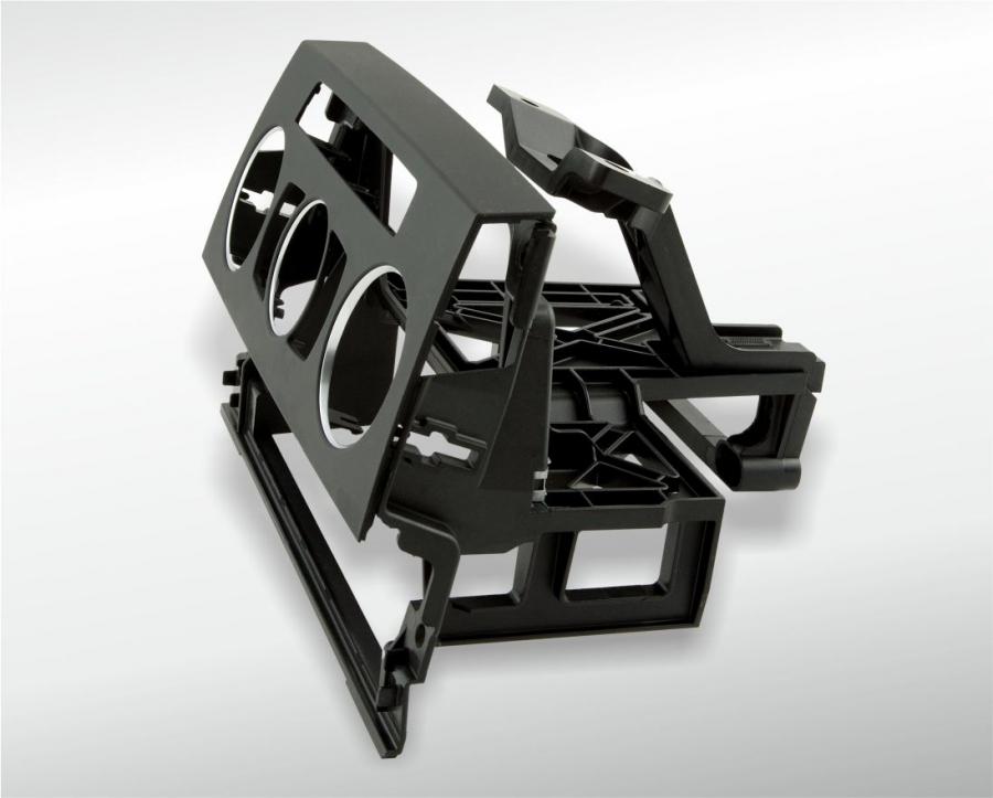 Instrumententräger 3er BMW mit Sichtblende und Chromringen