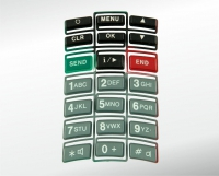 Mobile phone keypad, 1-component with 21 injection points