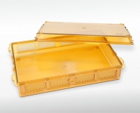 Sterilising container - high temperature-resistant