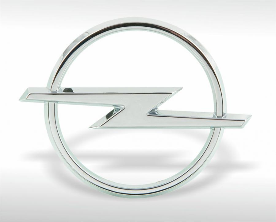 Verchromtes Emblem Opel
