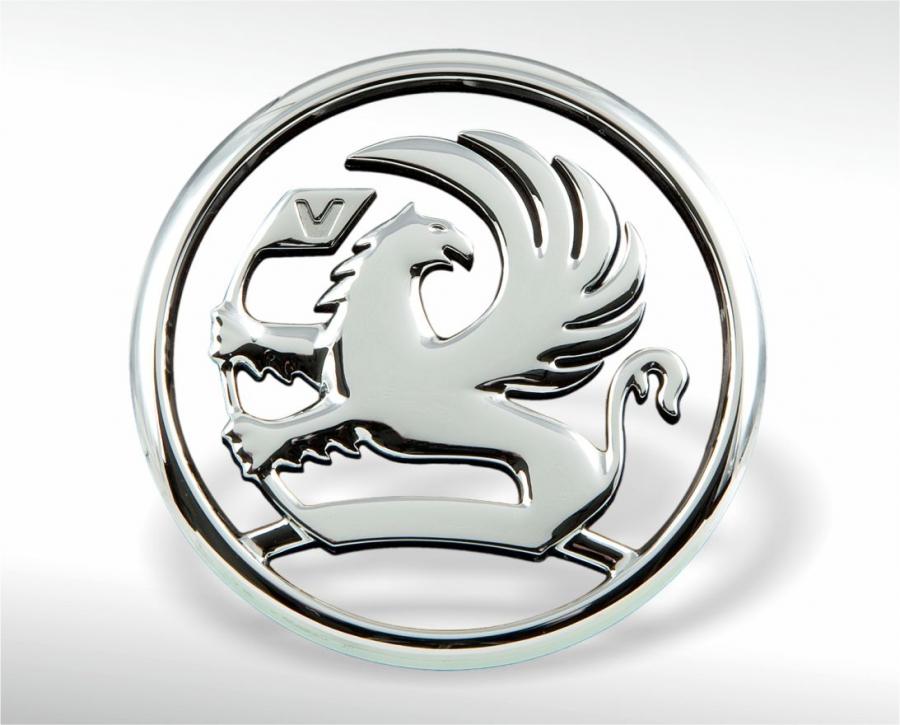 Verchromtes Emblem Vauxhall